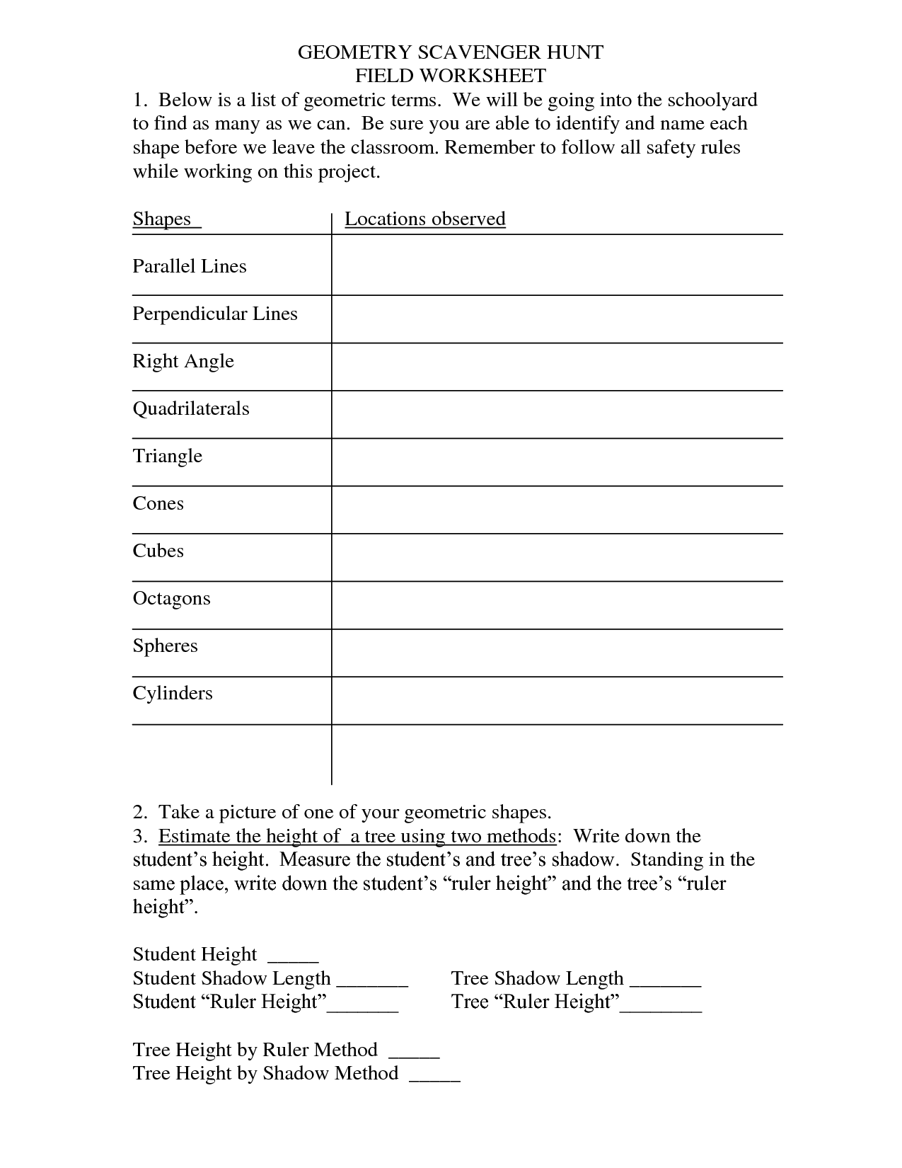 11 Best Images Of Shape Hunt Worksheets