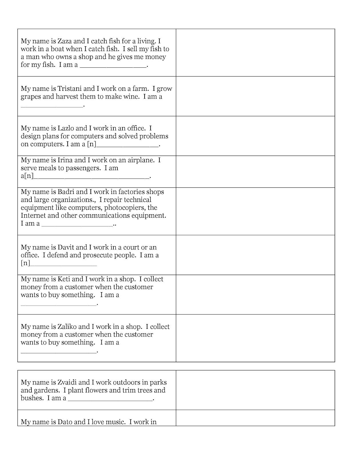 16 Best Images Of Worksheet For Word Documents