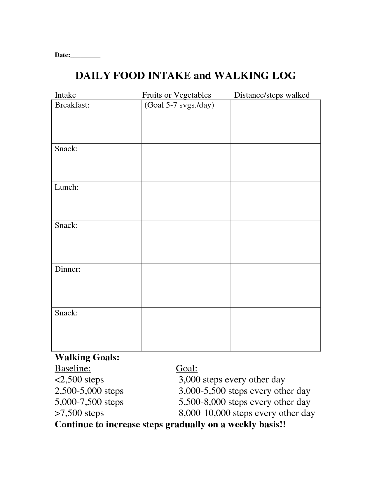 15 Best Images Of Daily Food Intake Worksheet