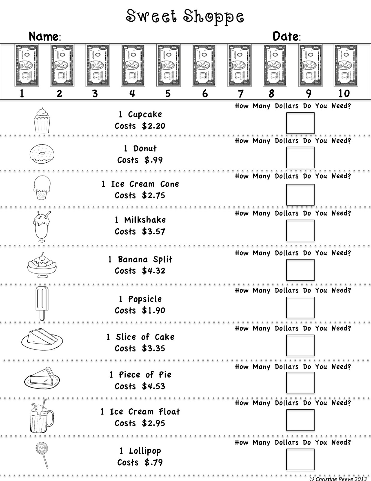 15 Best Images Of Grocery Money Worksheets