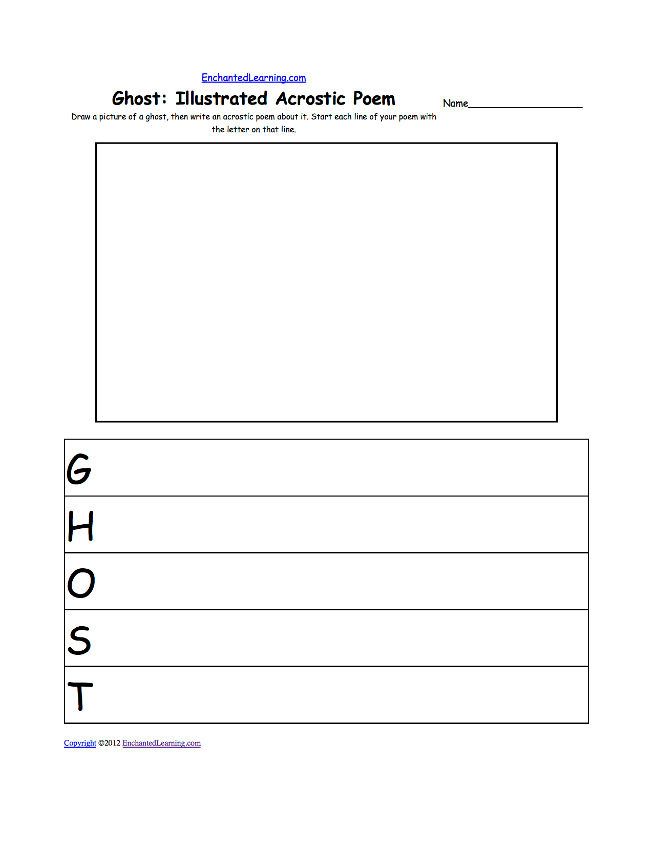 10 Best Images Of Writing Poetry Worksheets