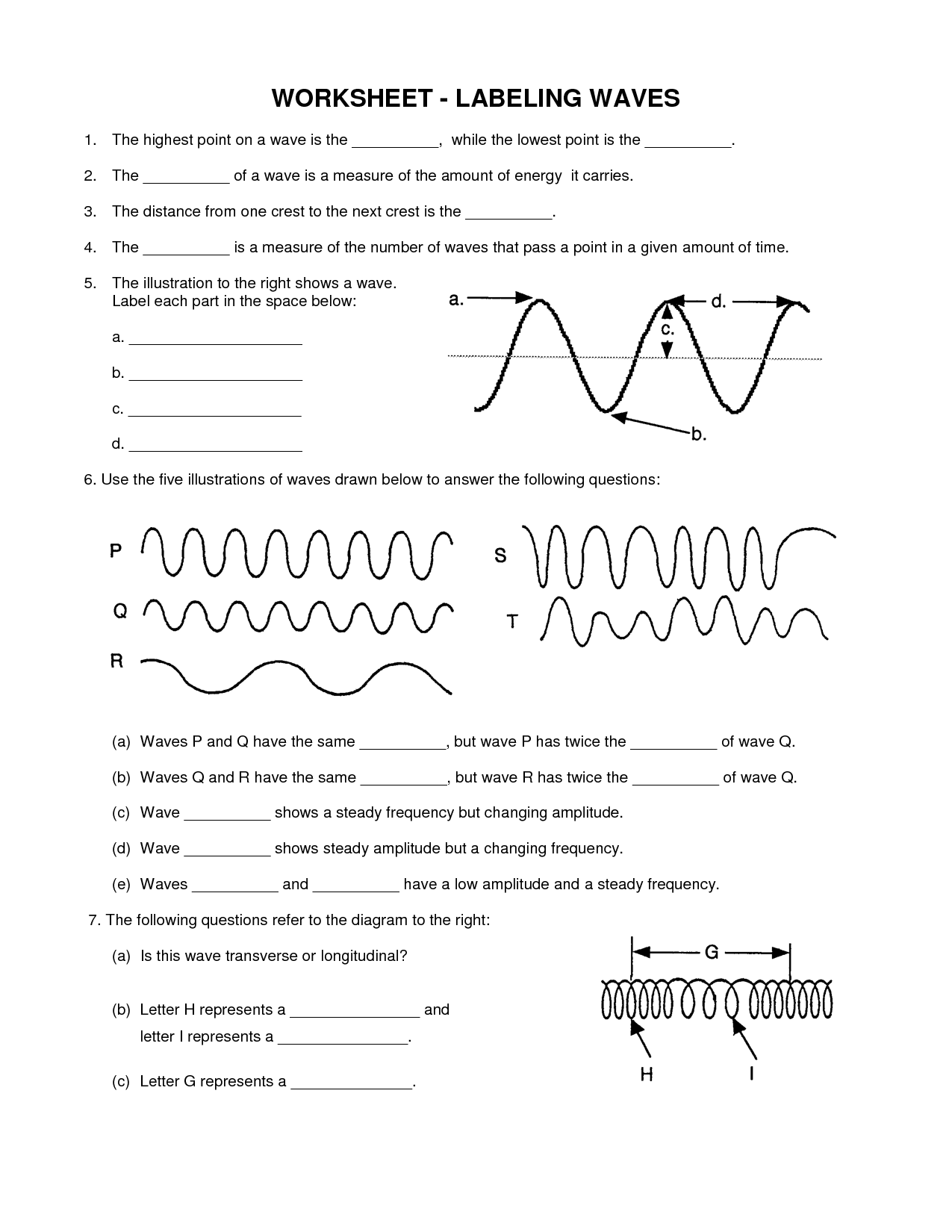 Physical Science Waves Worksheet Answers