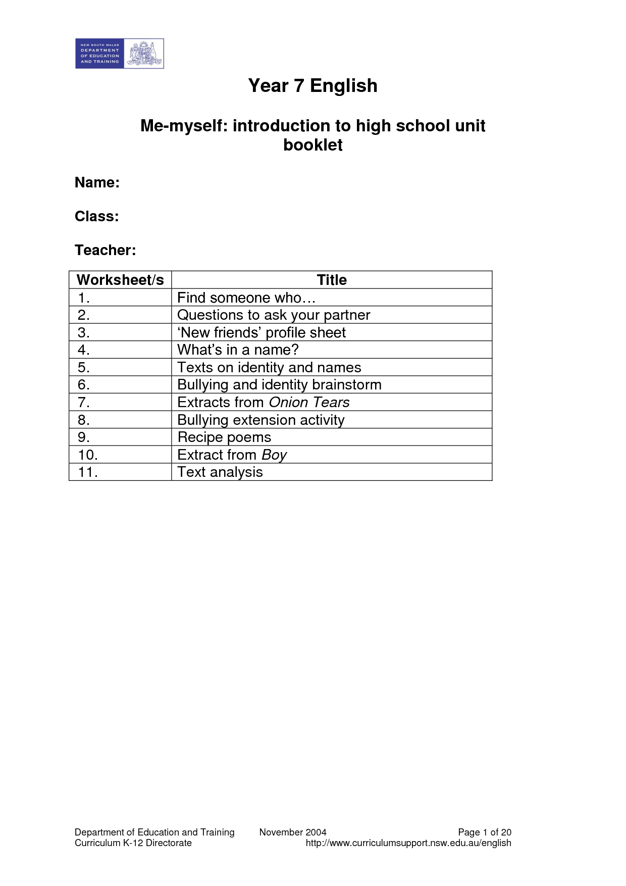 14 Best Images Of Bullying Worksheets For Primary Students