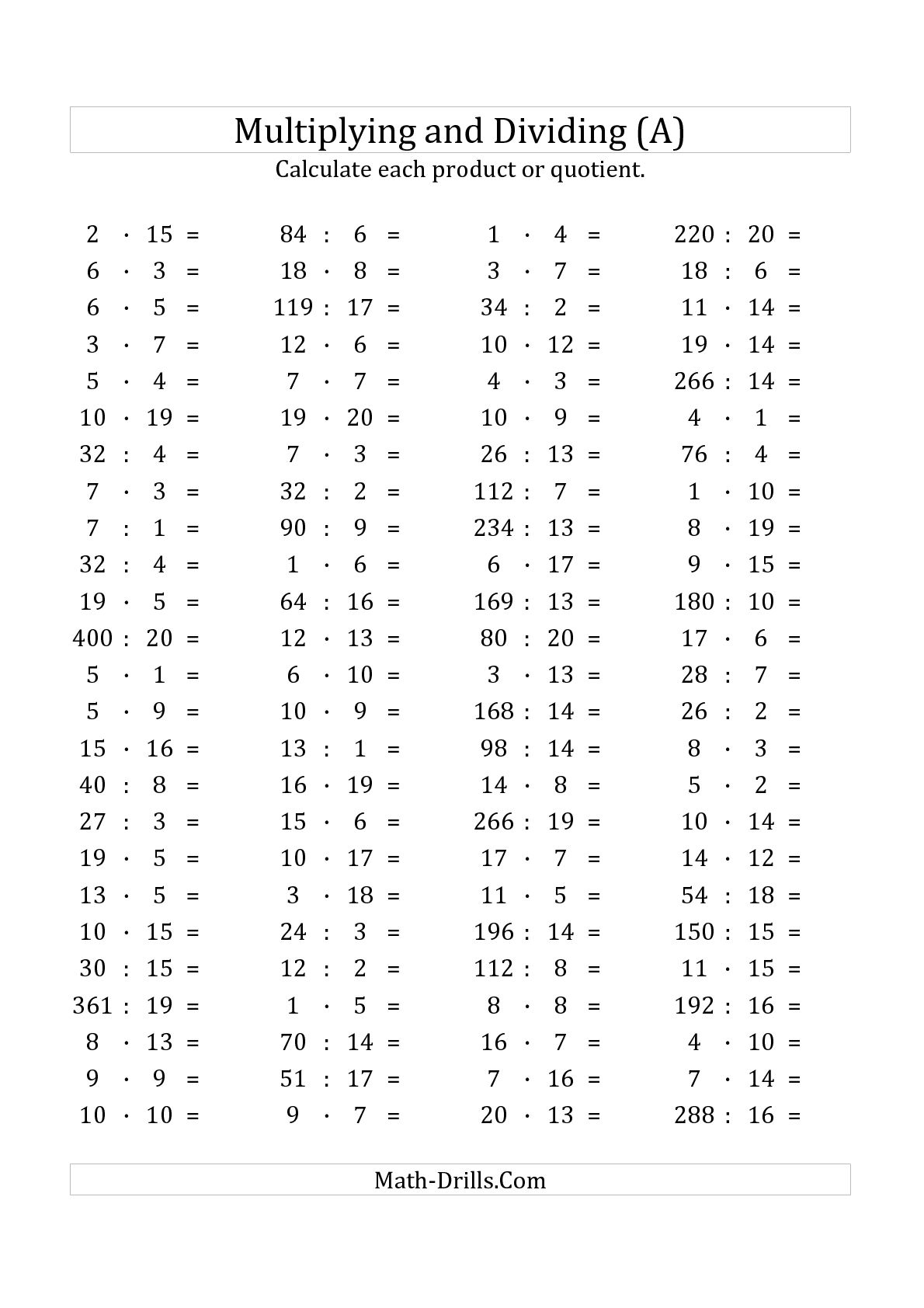 12 Best Images Of Math Order Of Operations Worksheets With Division