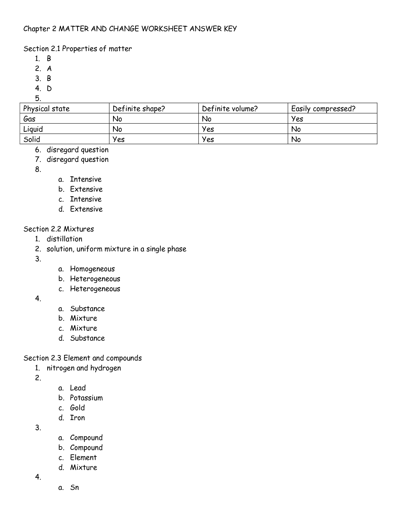 32 Properties Of Water Worksheet Answer Key