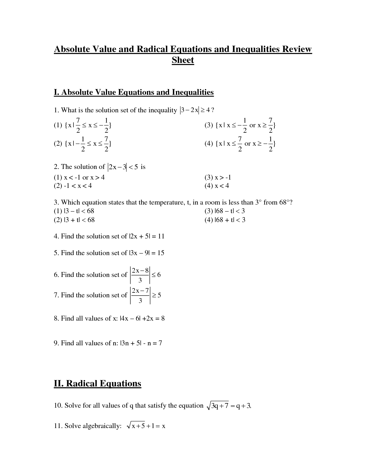 6 Best Images Of Exponents Worksheets High School