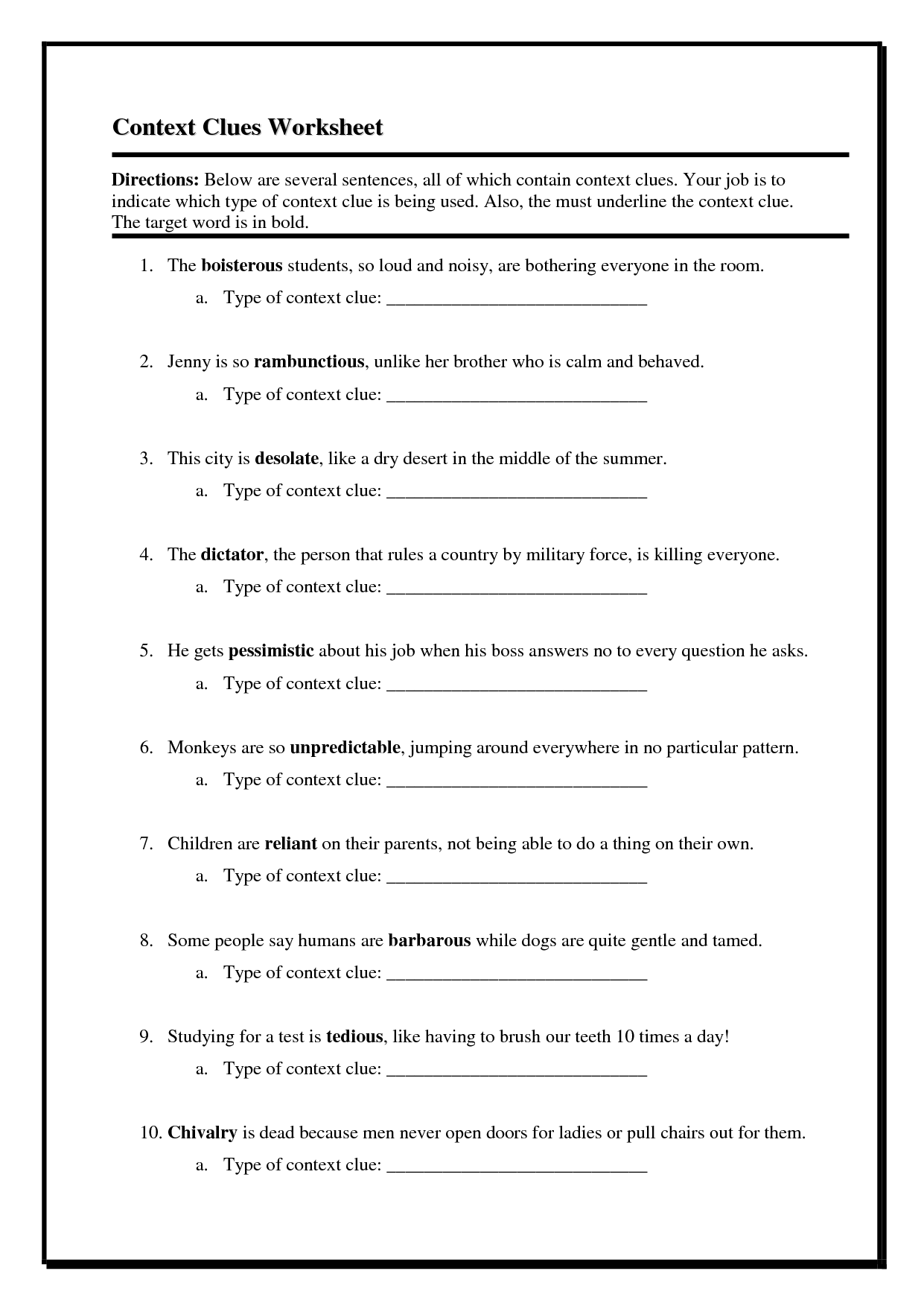 17 Best Images Of Inference Worksheets 4th Grade