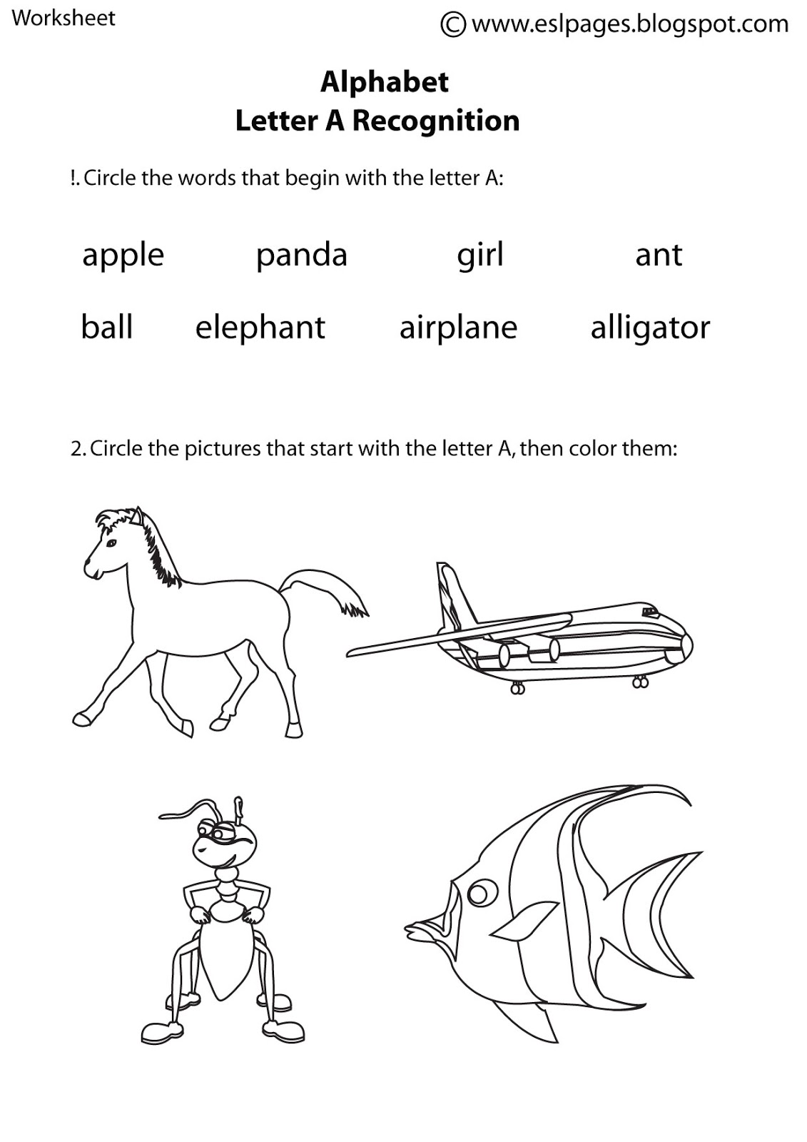 17 Best Images Of Esl Alphabet Worksheets