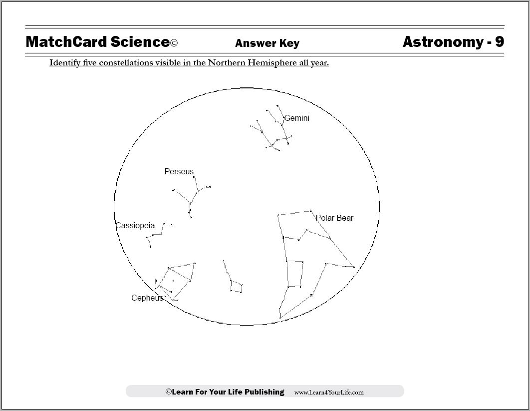 6 Best Images Of Worksheets About Constellations