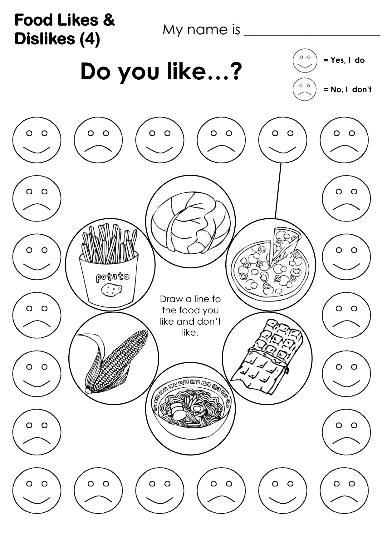14 Best Images Of Food Vocabulary Worksheets