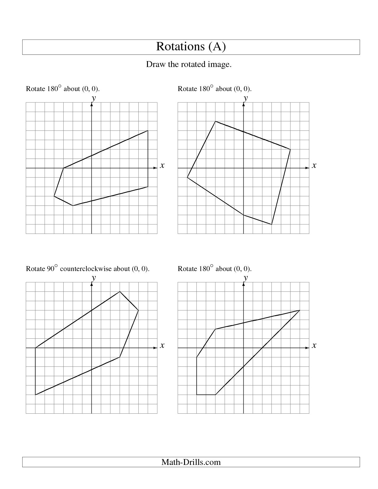 Reflections Worksheet Geometry
