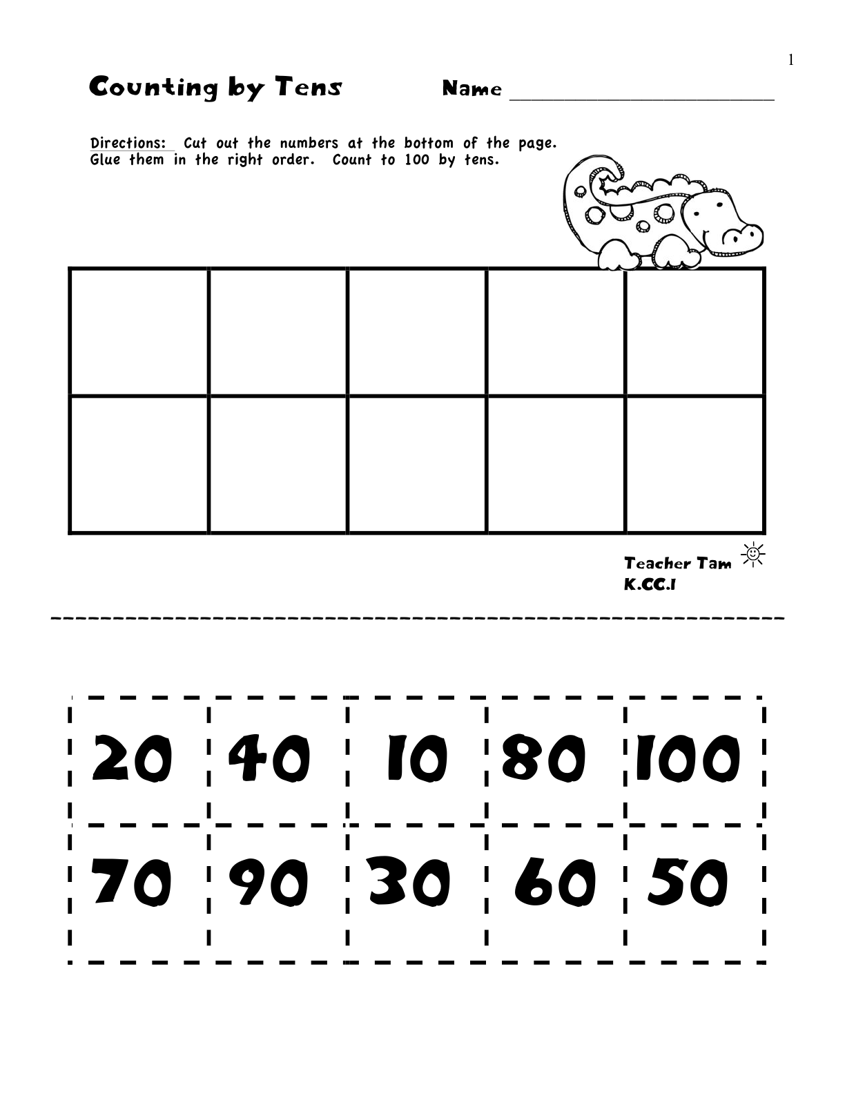 15 Best Images Of Kindergarten Cut And Paste Math