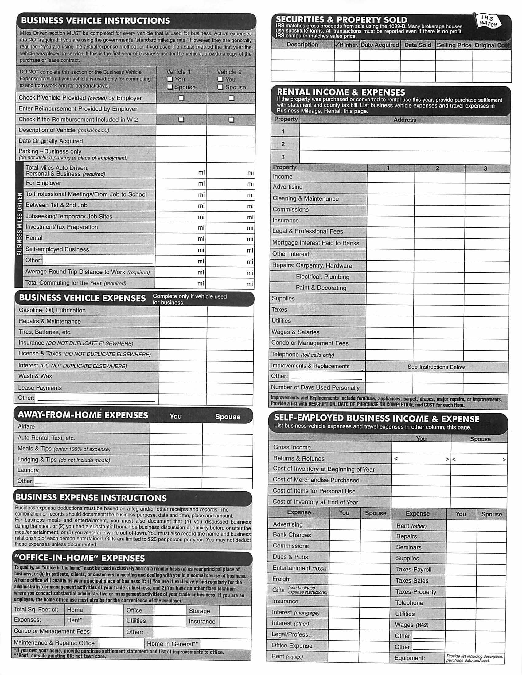 10 Best Images Of Itemized Deductions Worksheet