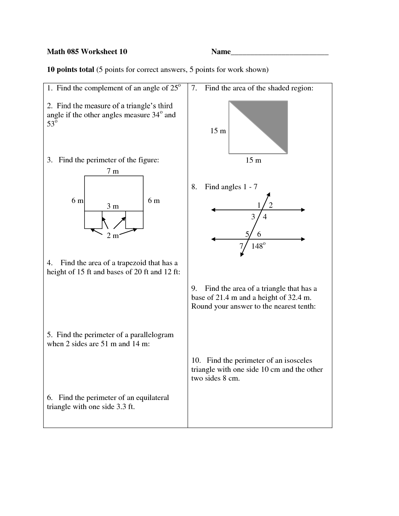 11 Best Images Of Classifying Triangles Worksheet 4th Grade