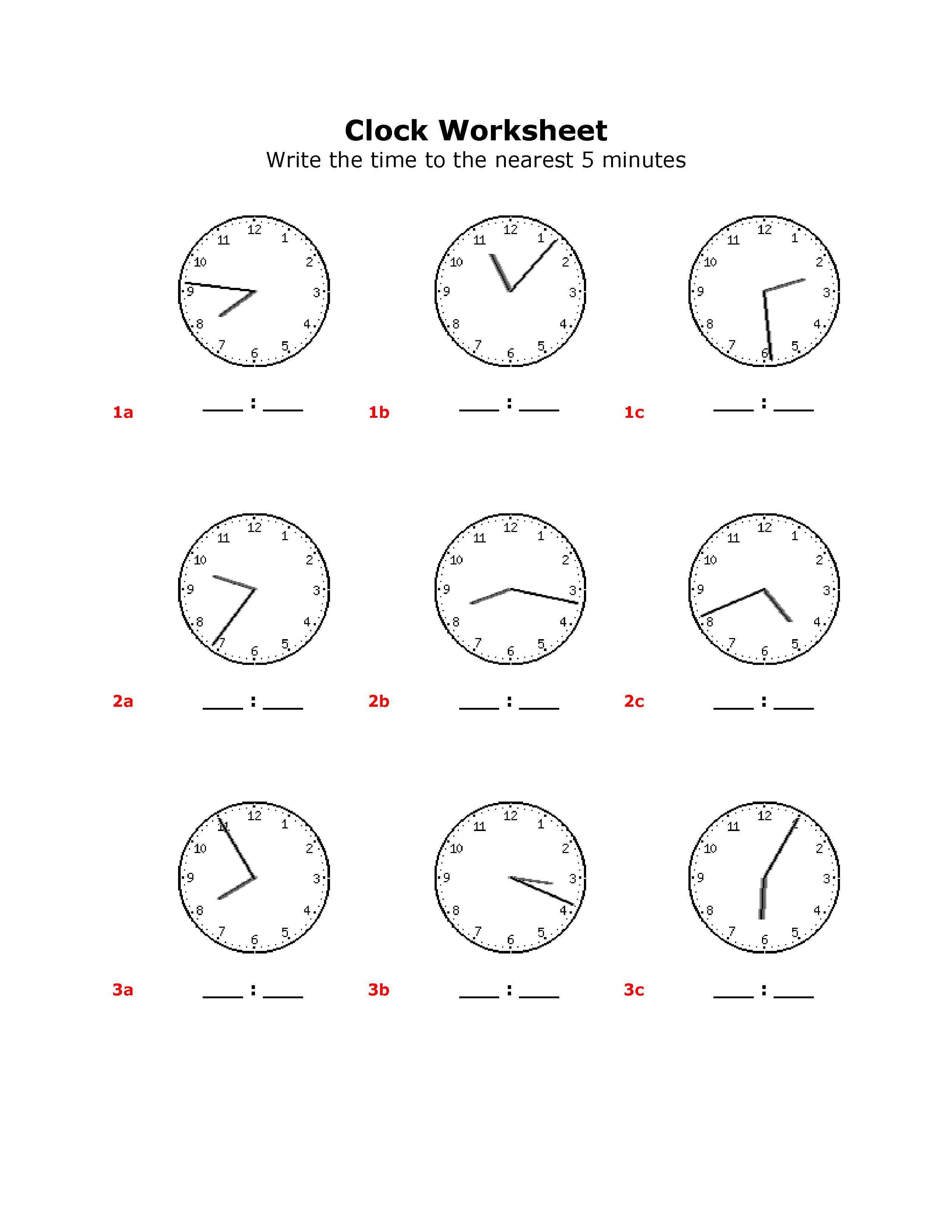 14 Best Images Of Time Worksheets Grade 1