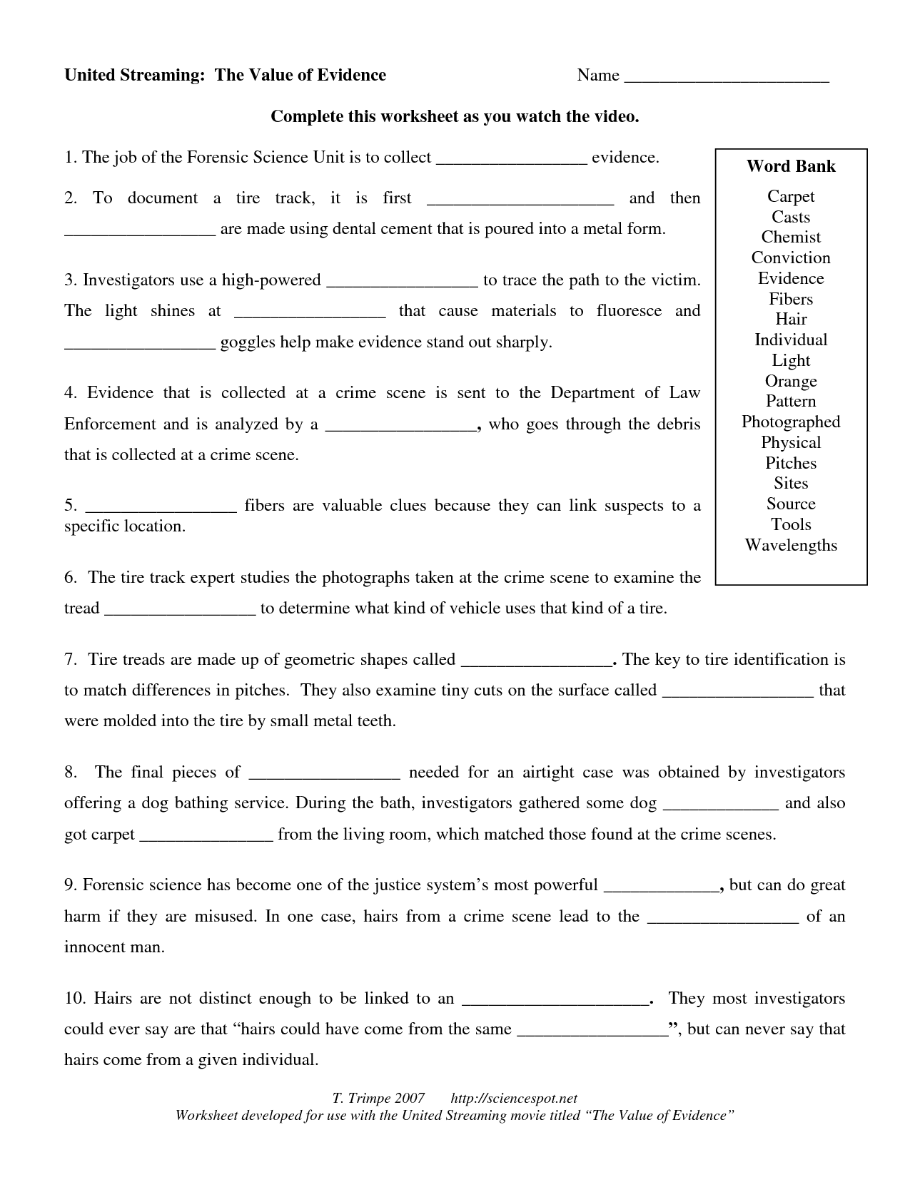 worksheet Forensic Science Case Study Worksheet forensic science worksheets free library download and 14 best im ges of high school w ksheets pr t ble