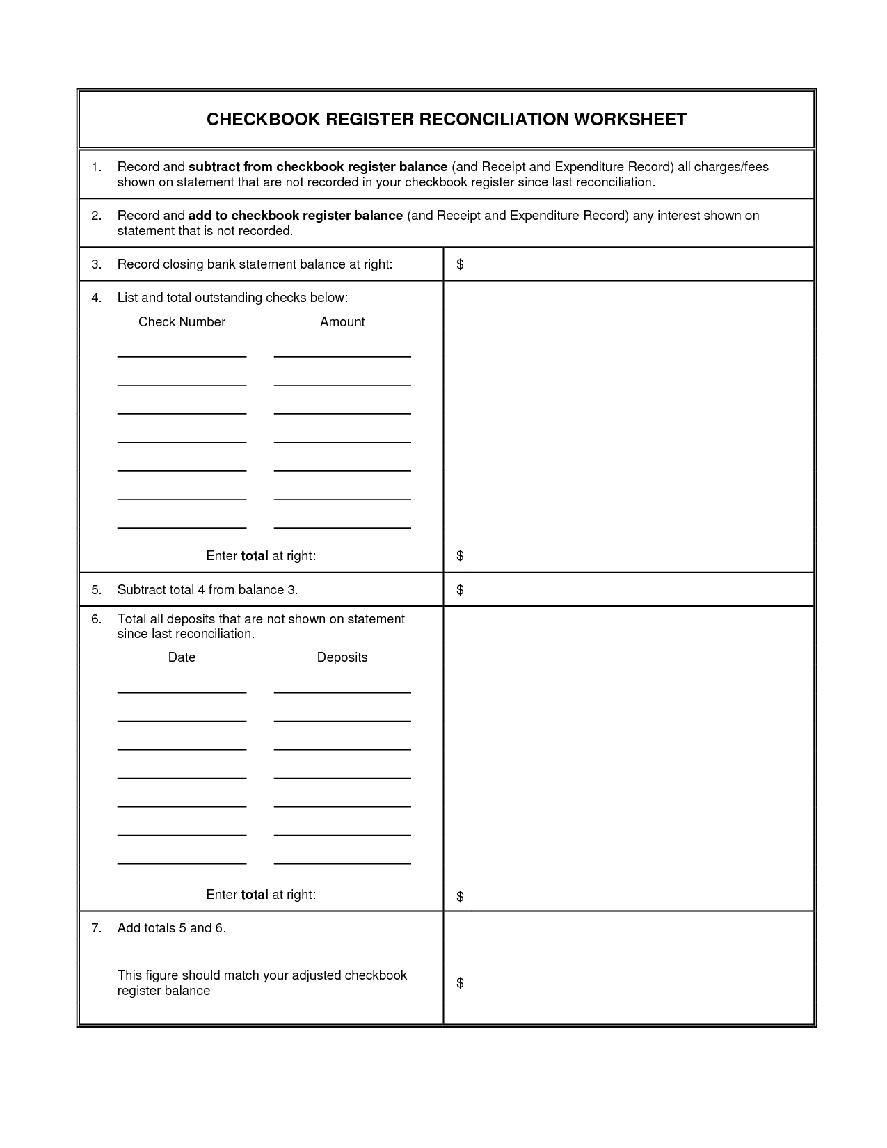 16 Best Images Of Blank Checkbook Worksheet