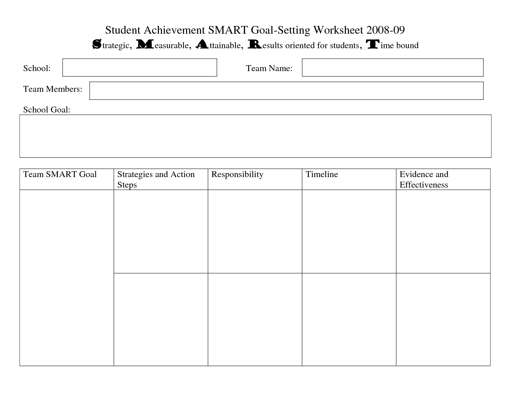 15 Best Images Of Examples Smart Goal Setting Worksheet