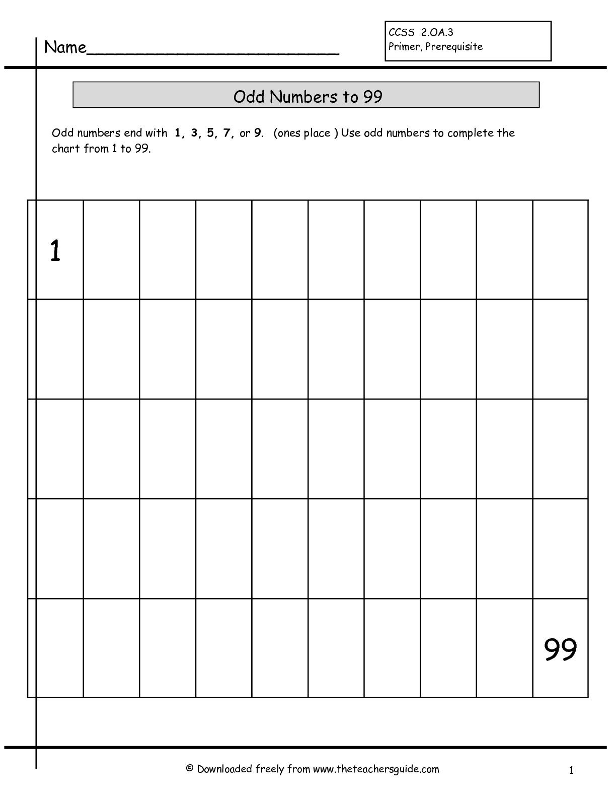 31 Writing Numbers 1 100 Worksheet