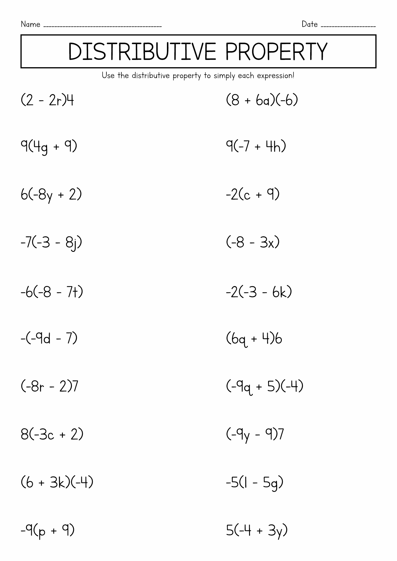 14 Best Images Of Pre Algebra 7th Grade Math Worksheets