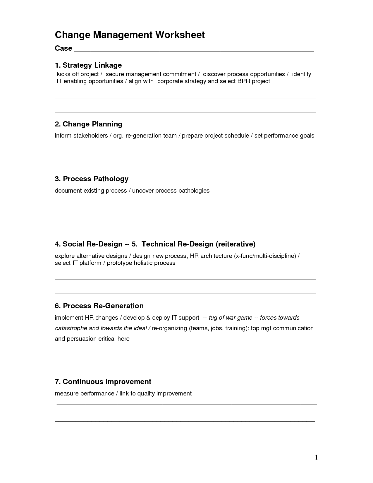 6 Stages Of Change Worksheet