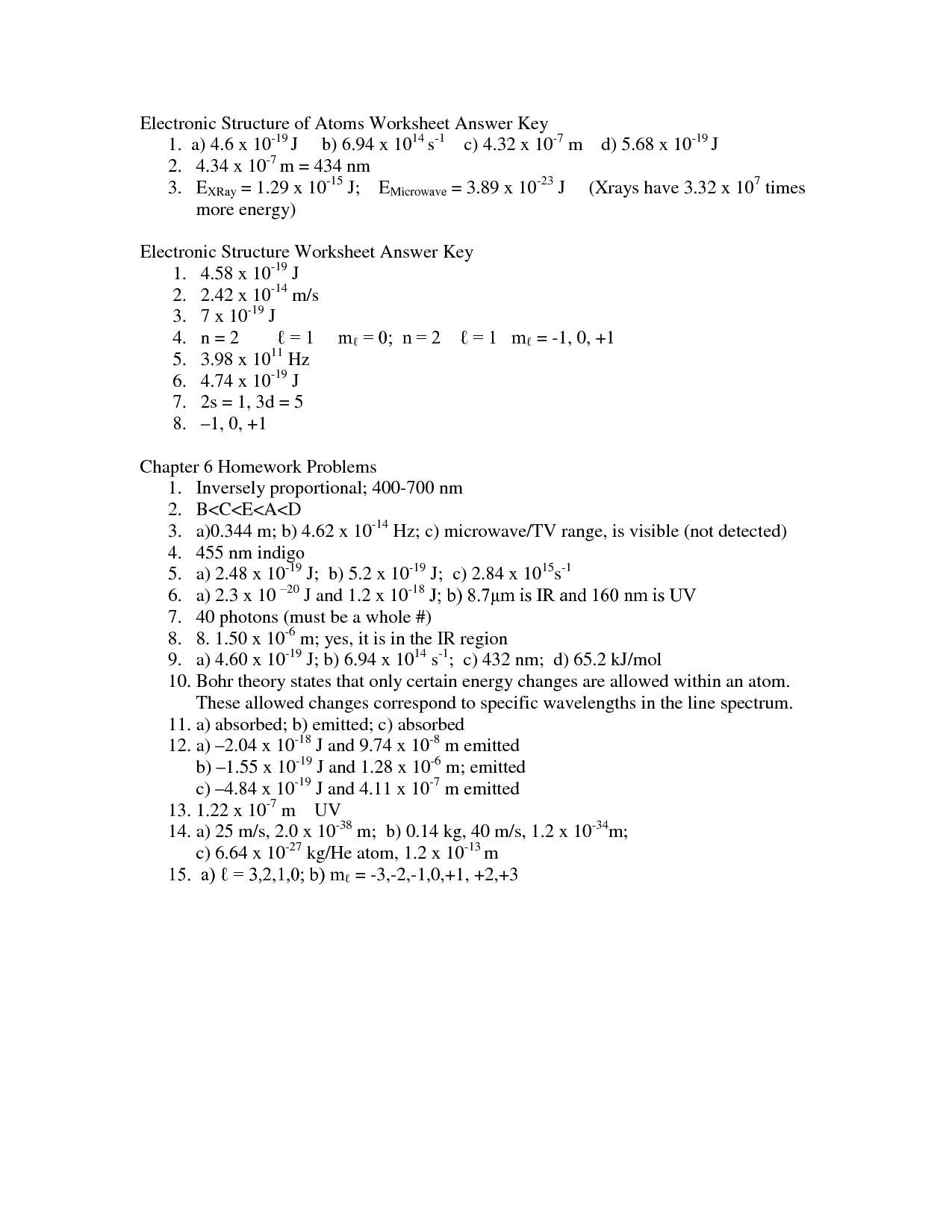 15 Best Images Of Atomic Structure Worksheet Answer Key