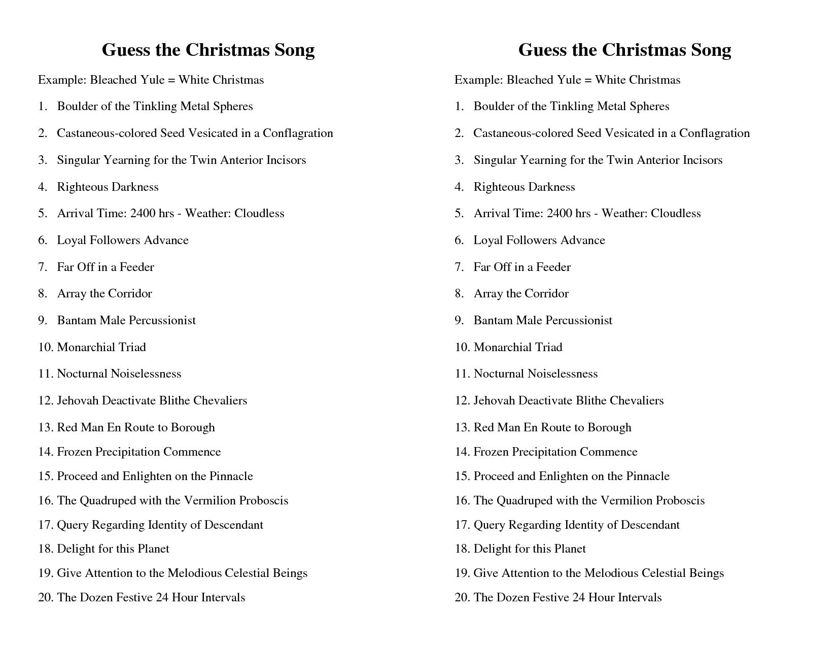 15 Best Images Of Name That Christmas Carol Worksheet