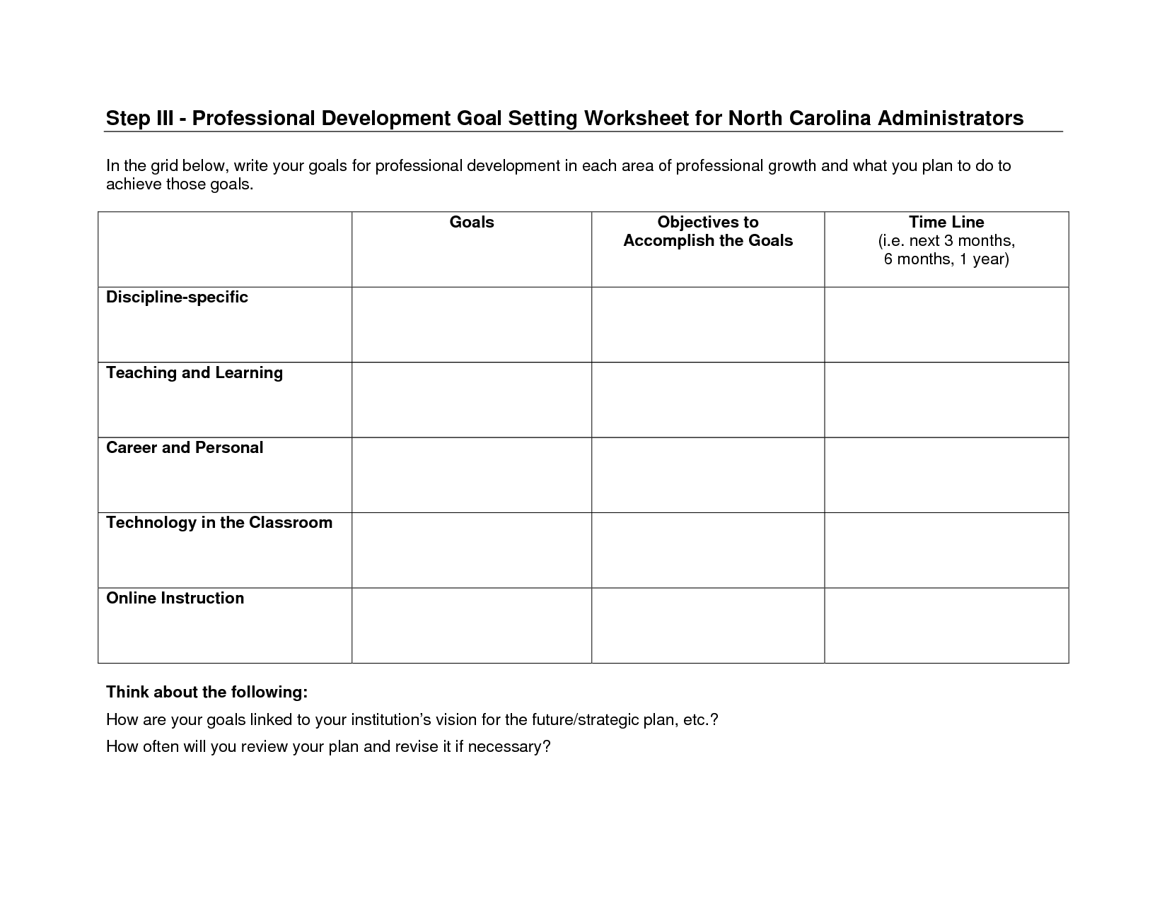 18 Best Images Of Future Goals Worksheet