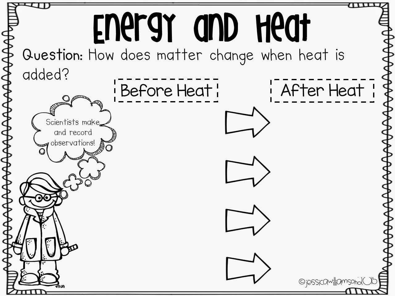 Science Heat Transfer Worksheet