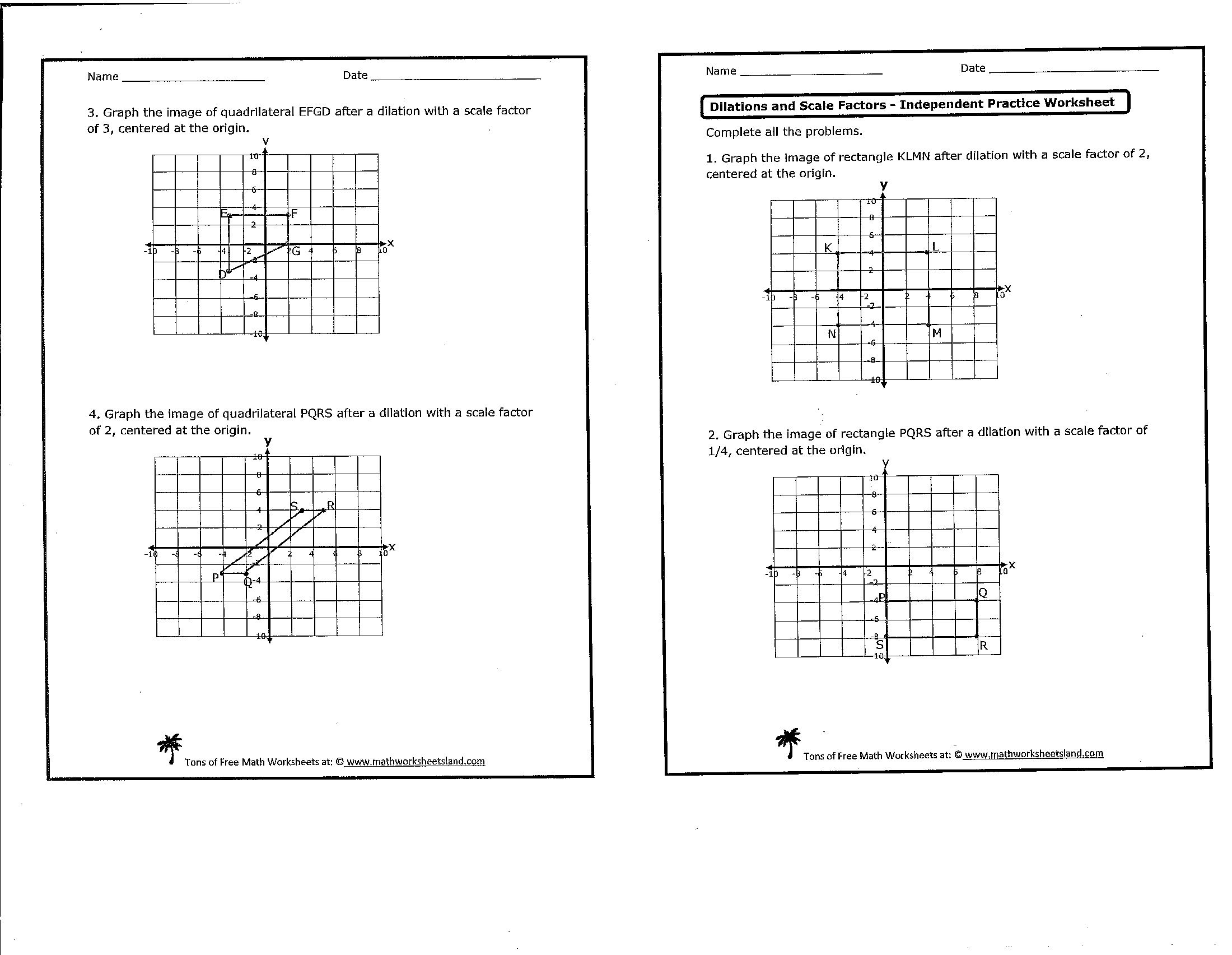 Worksheet Dilation Math Worksheets Grass Fedjp Worksheet