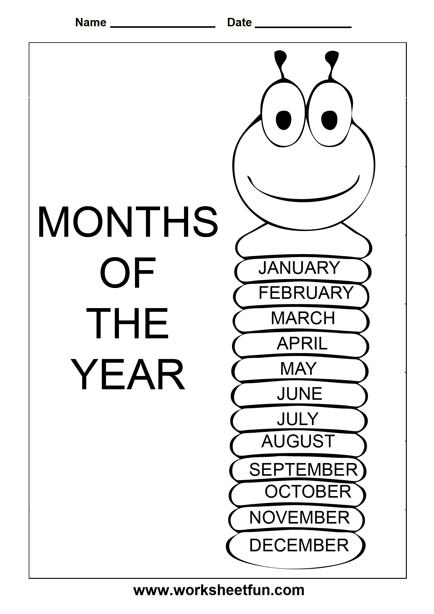 11 Best Images Of Tracing Worksheets Months Of The Year