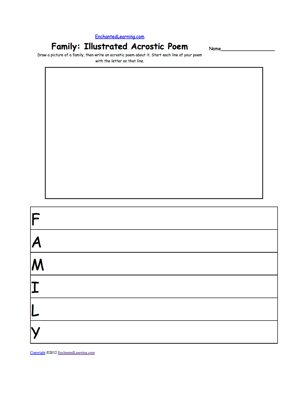 11 Best Images Of Family Drawing Worksheet