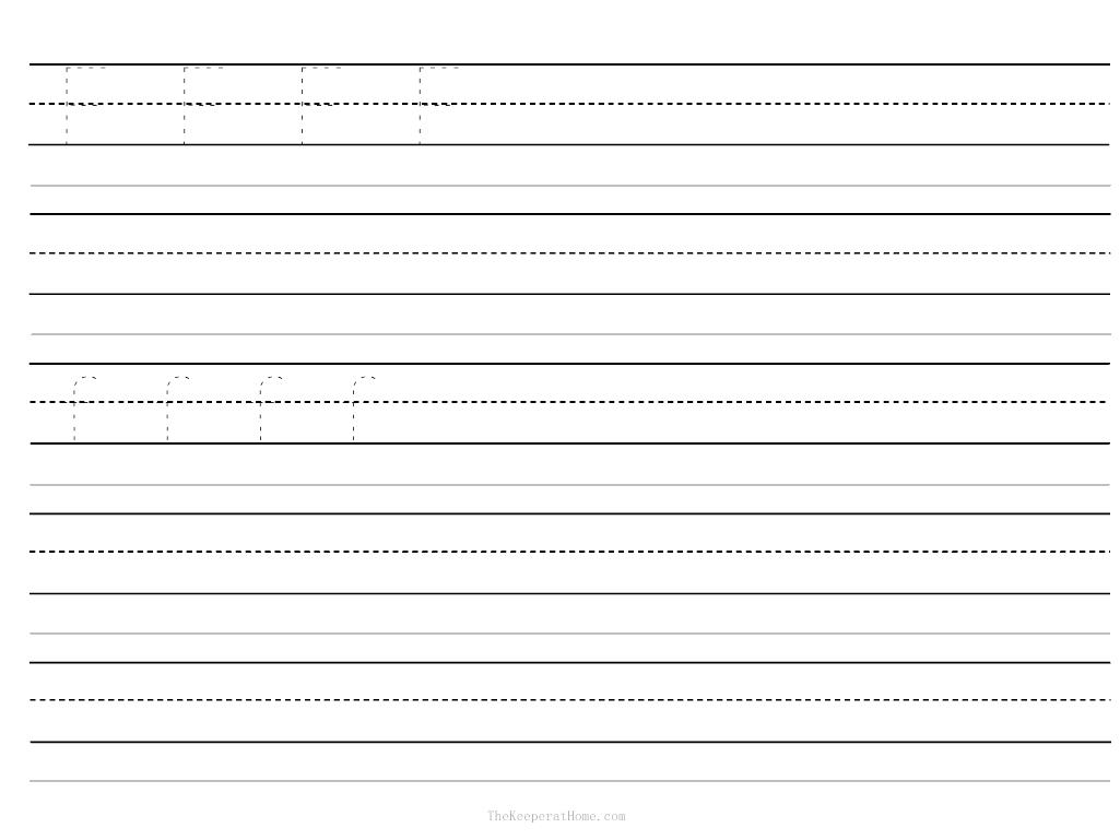 10 Best Images Of Blank Letter Practice Worksheets