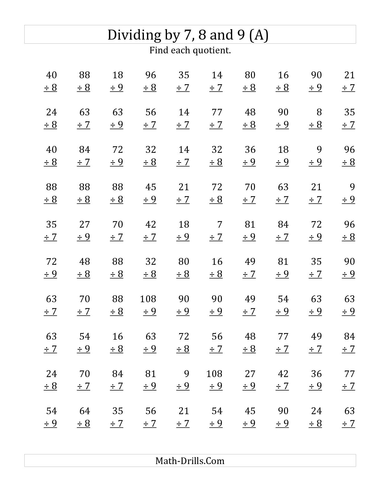 17 Best Images Of 4th Grade Math Division Worksheets