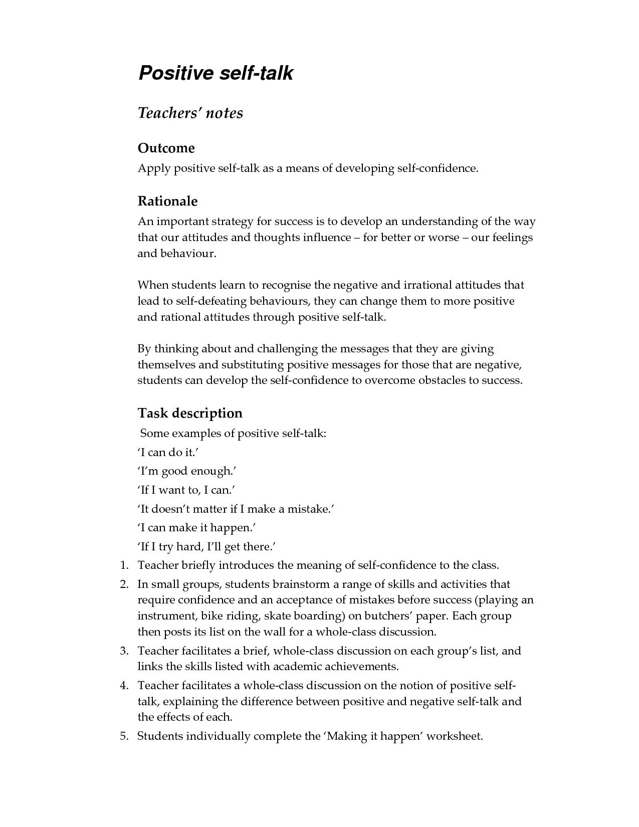 Irrational Thinking Worksheet