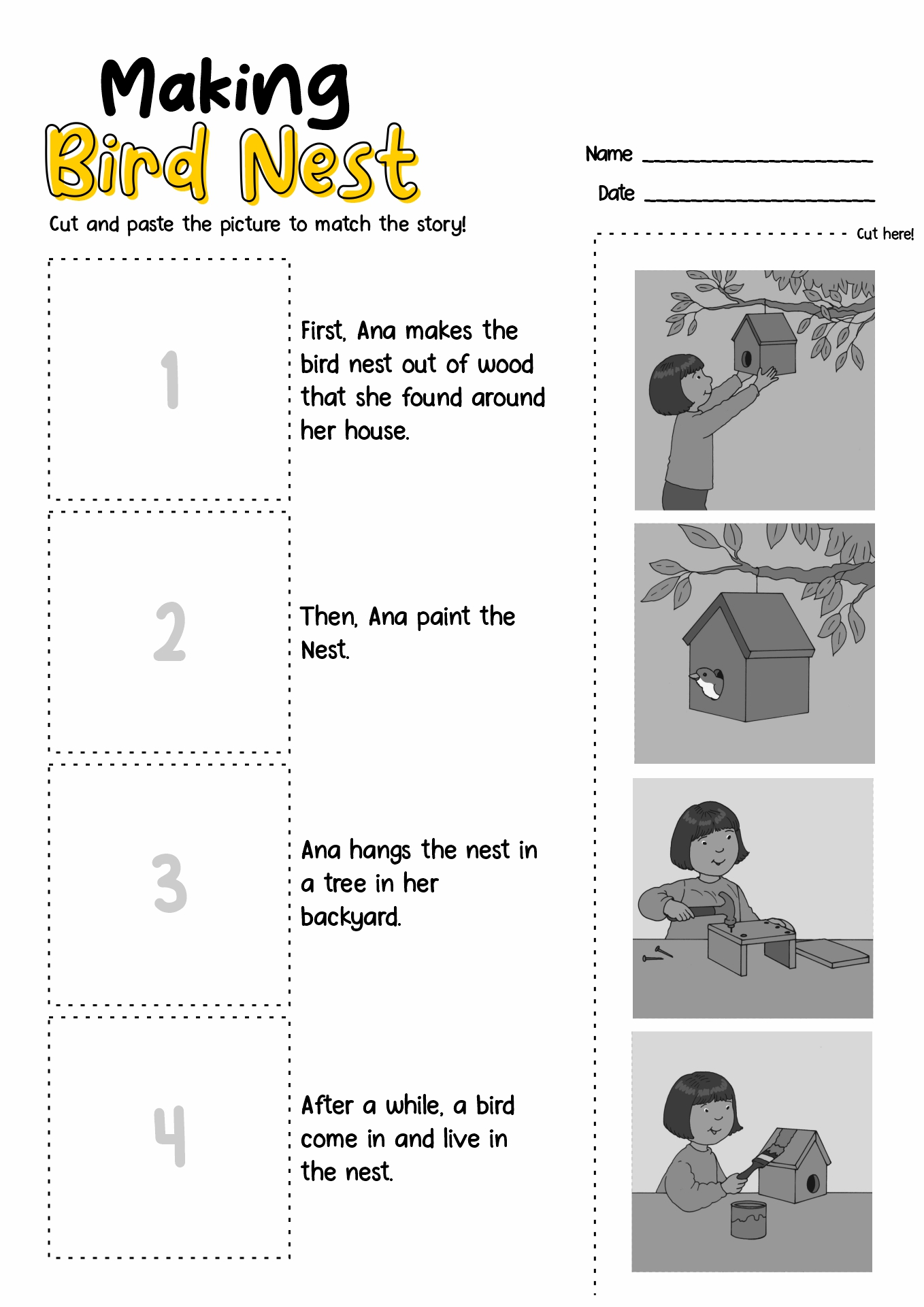 Beautiful Sequence Activities For 1st Graders Free