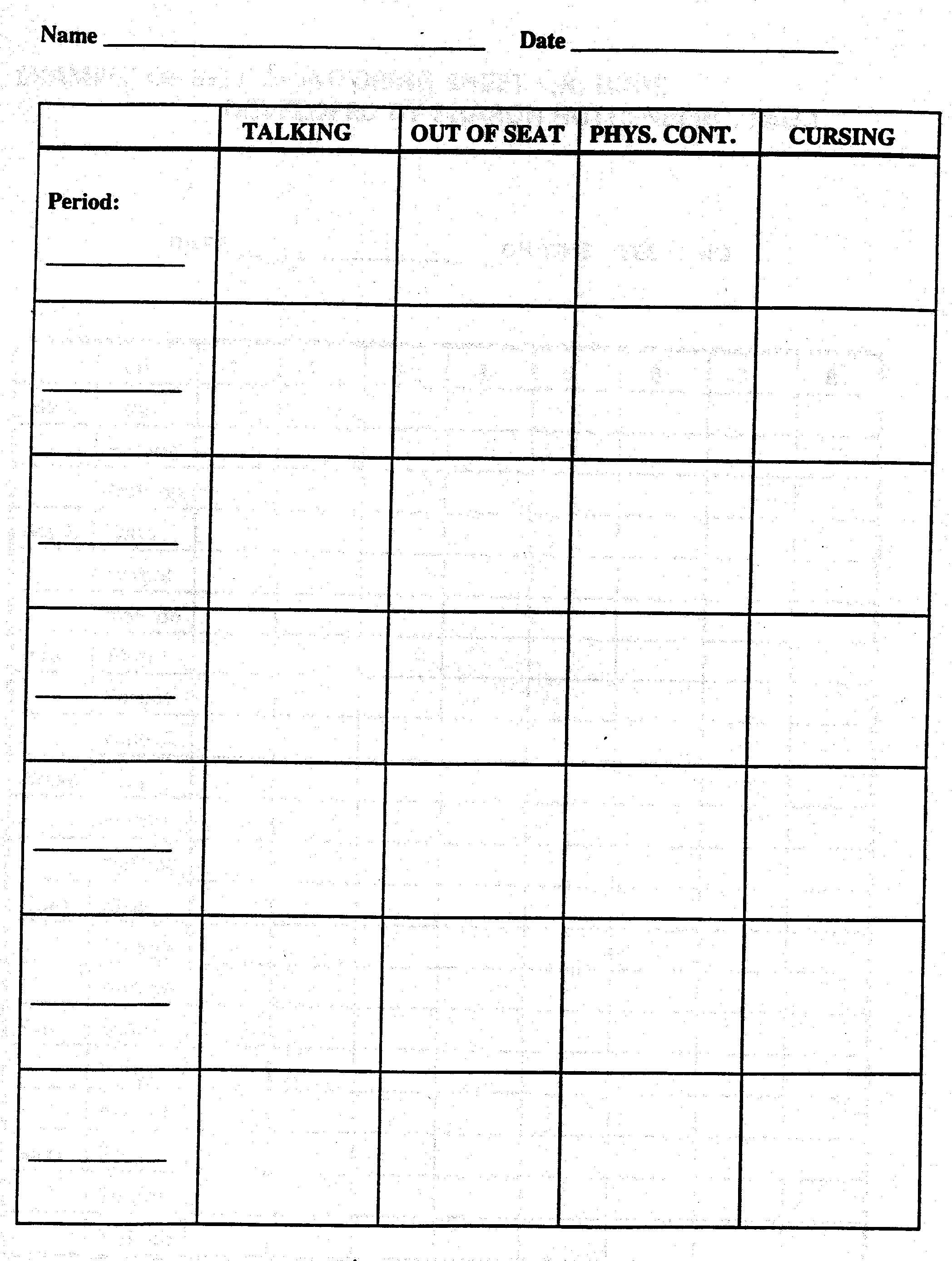 10 Best Images Of Classroom Procedures Worksheet