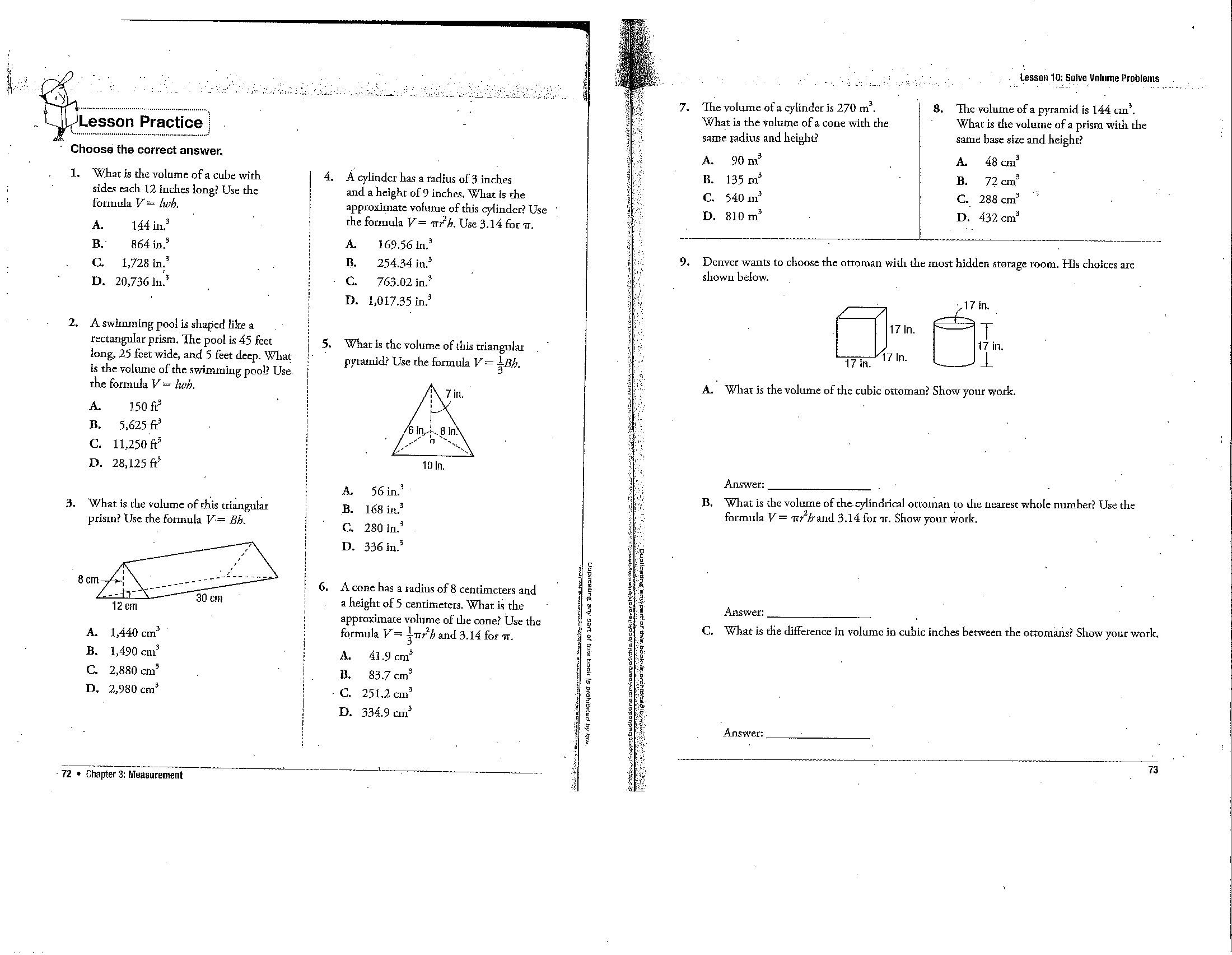 Sphere Geometry Worksheet 8th Grade