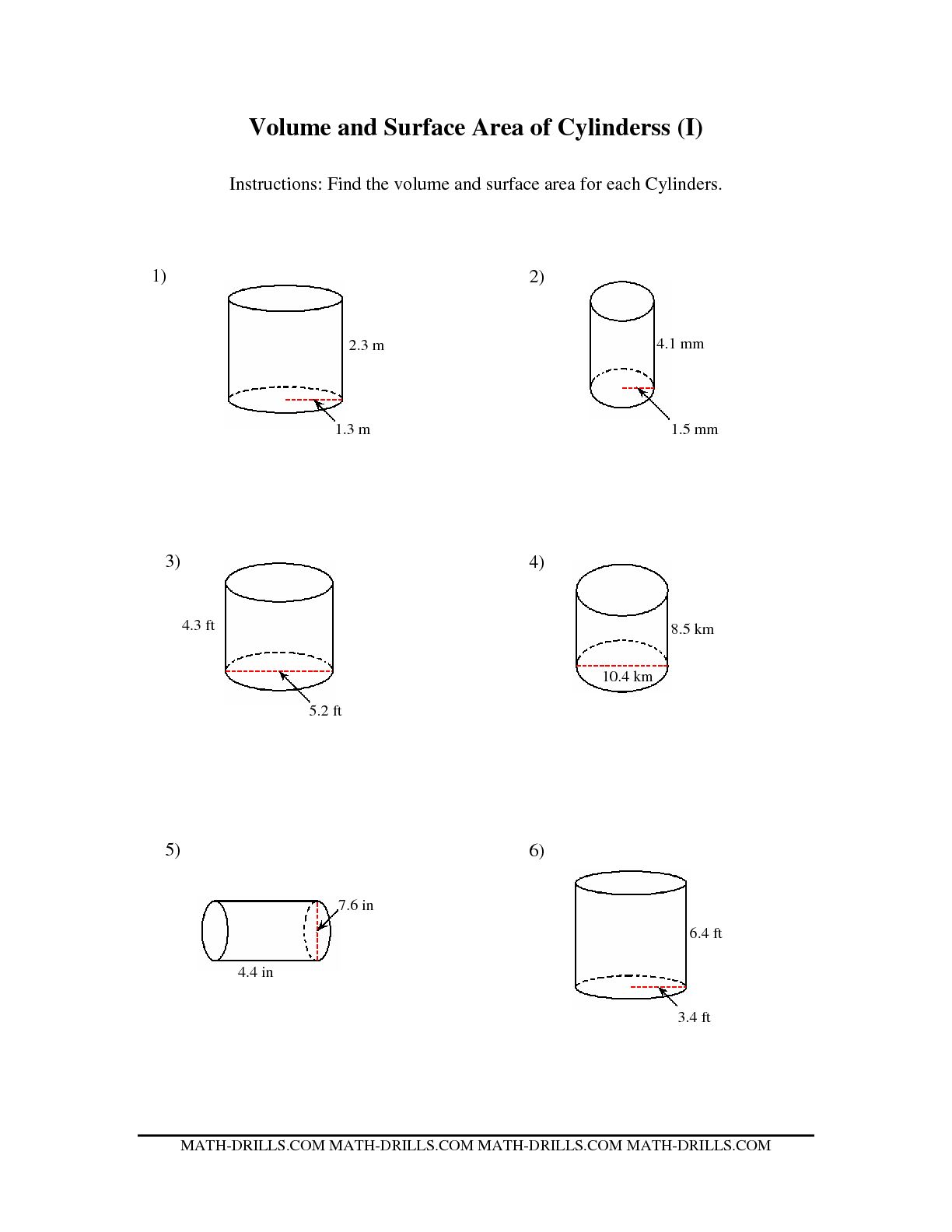 7 Best Images Of Prisms And Cylinders Worksheet