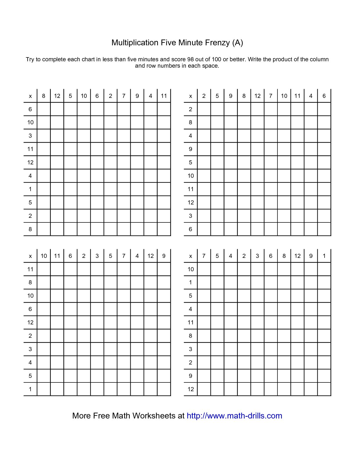 15 Best Images Of 5 Minute Math Worksheets