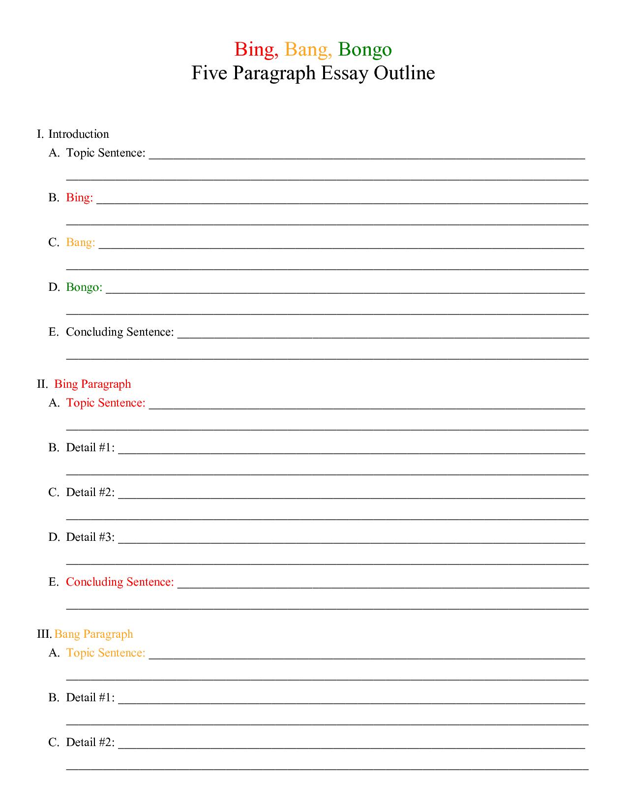 18 Best Images Of Outline Worksheet
