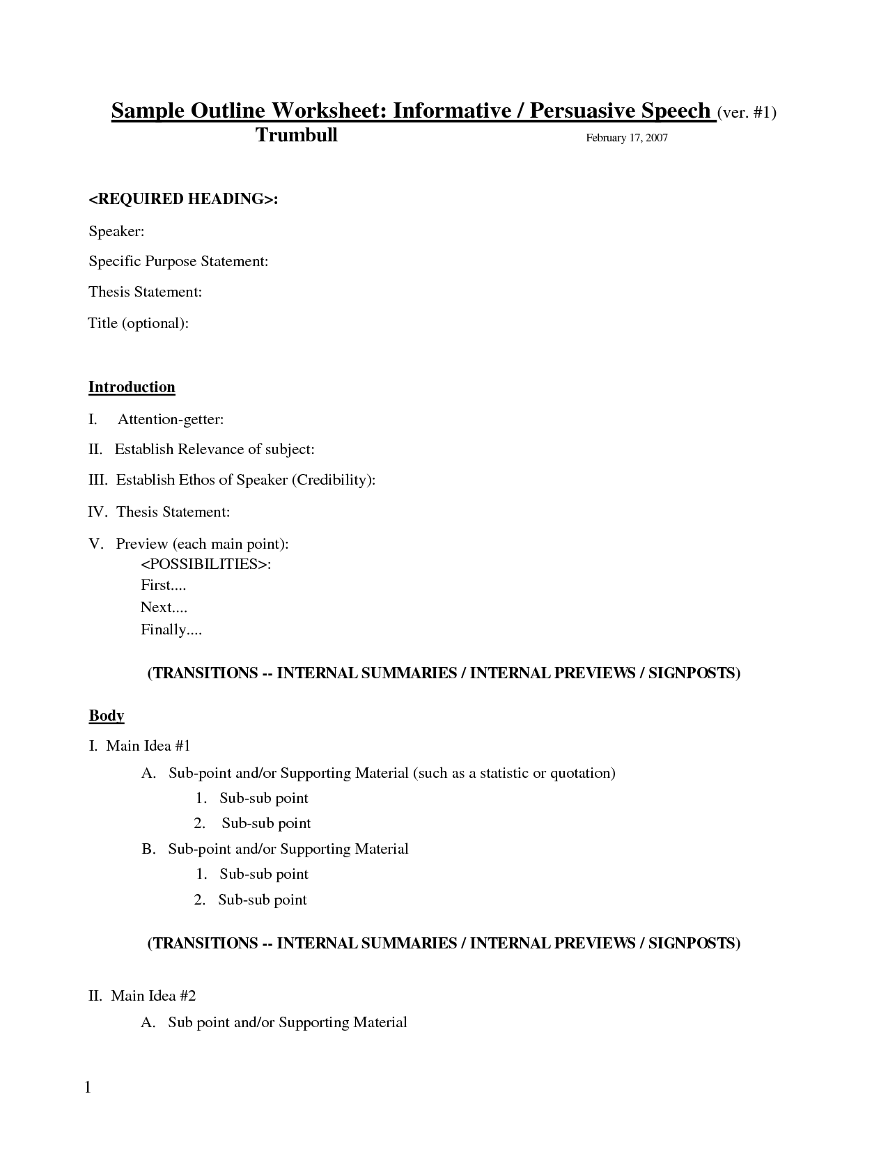 18 Best Images Of Outline Worksheet