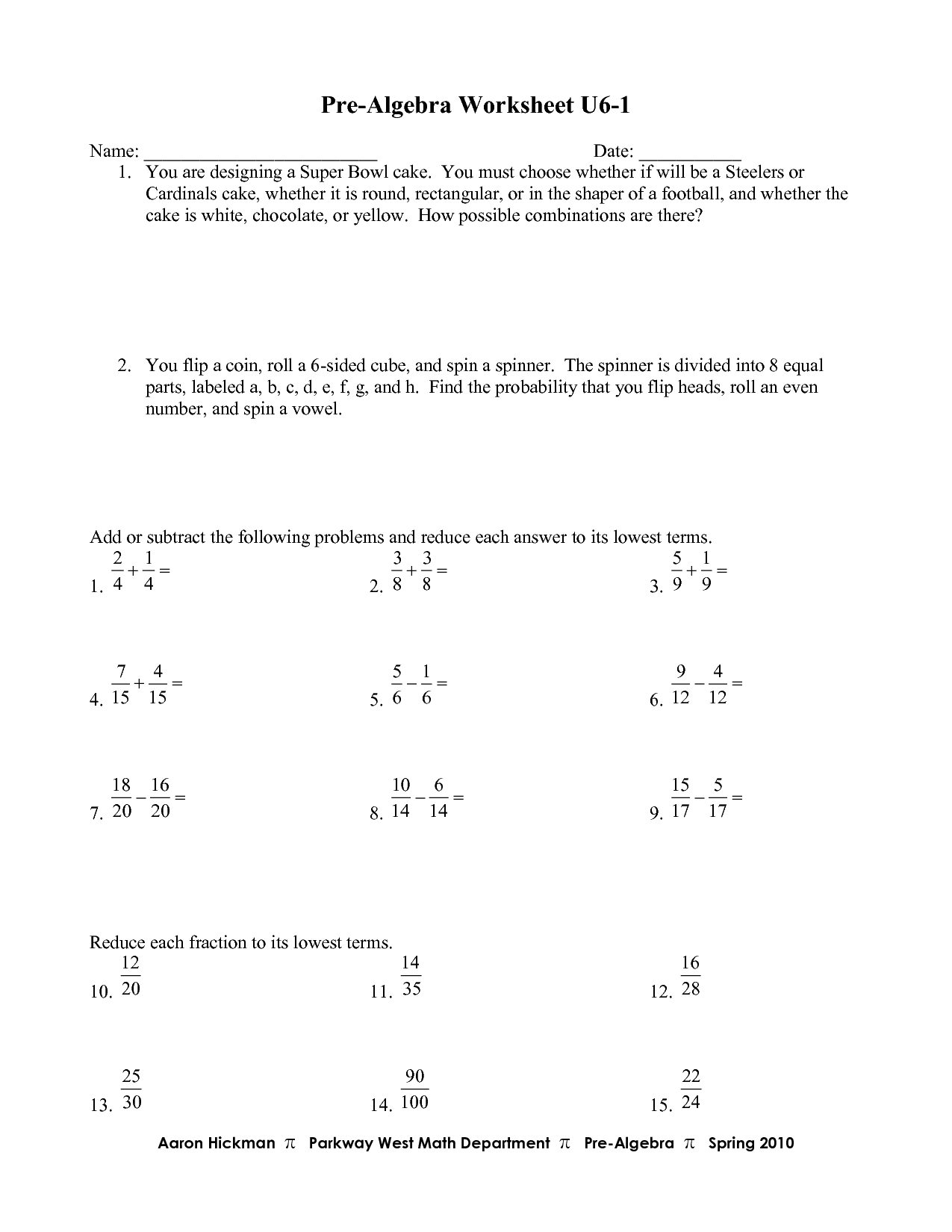 17 Best Images Of Pre Algebra Worksheets