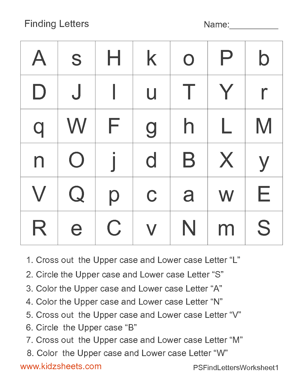 15 Best Images Of Letter Search Worksheets