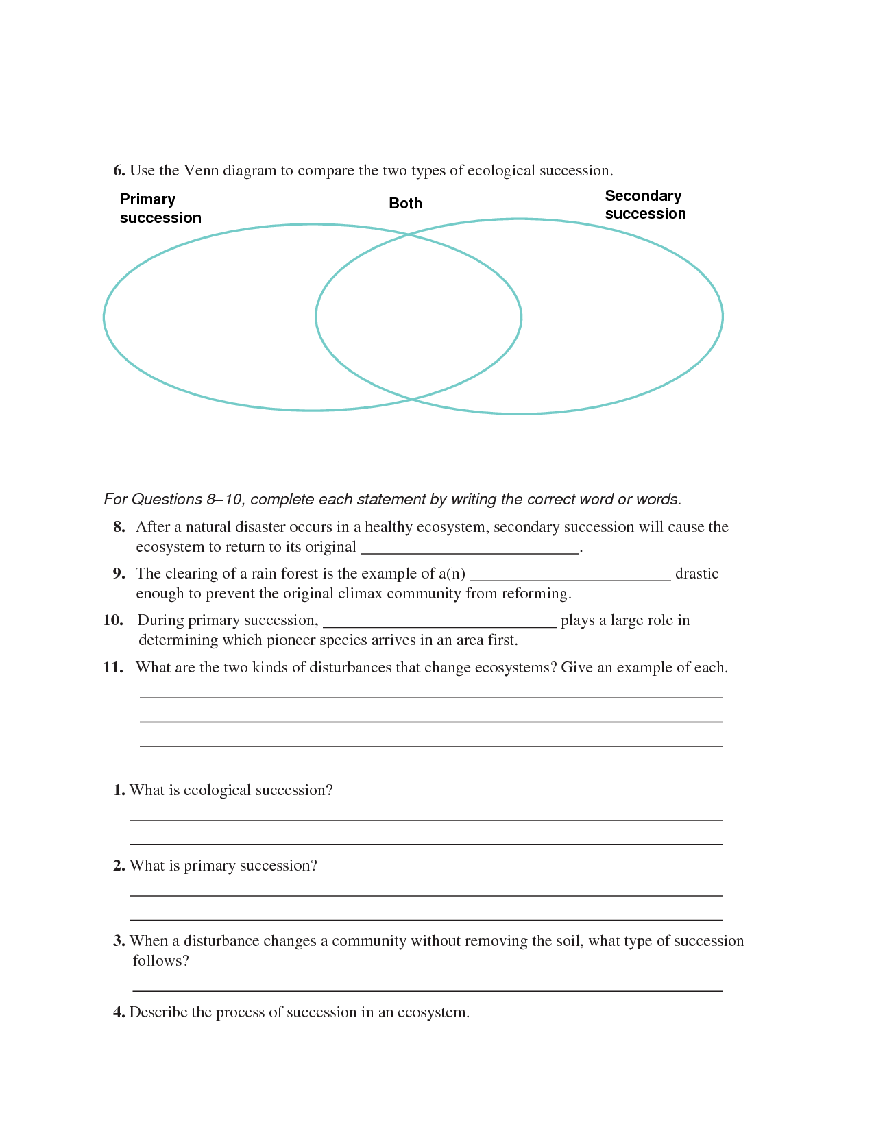 Color Venn Diagram Worksheet
