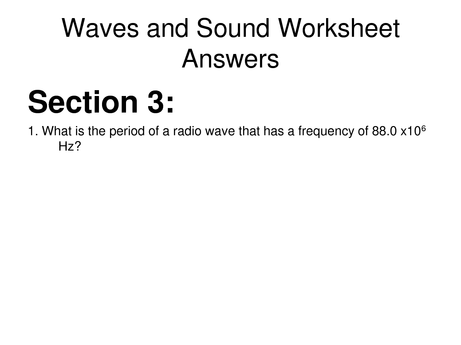 10 Best Images Of Electromagnetic Waves Worksheet 1