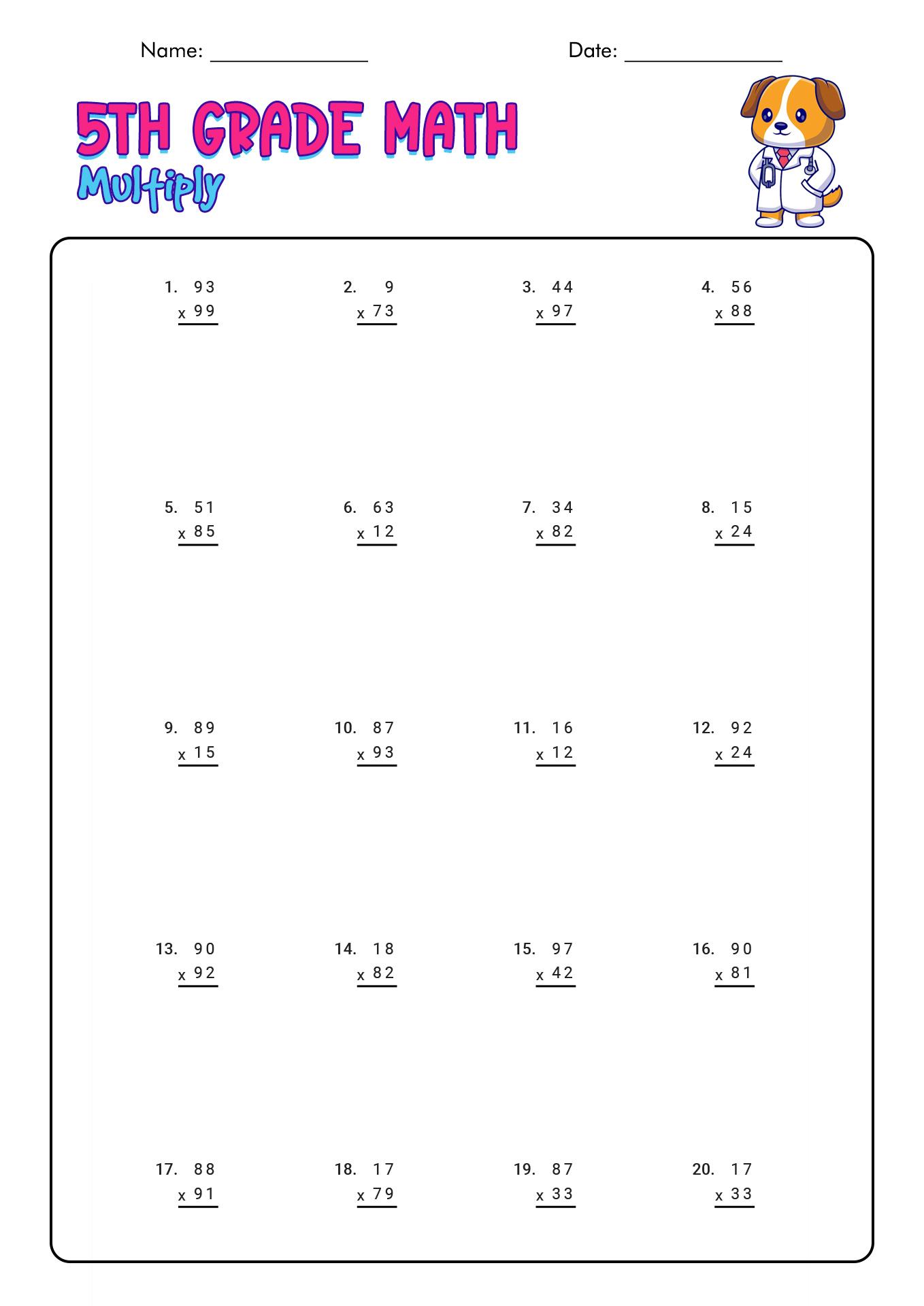 Free Printable Science Worksheets Grade 5