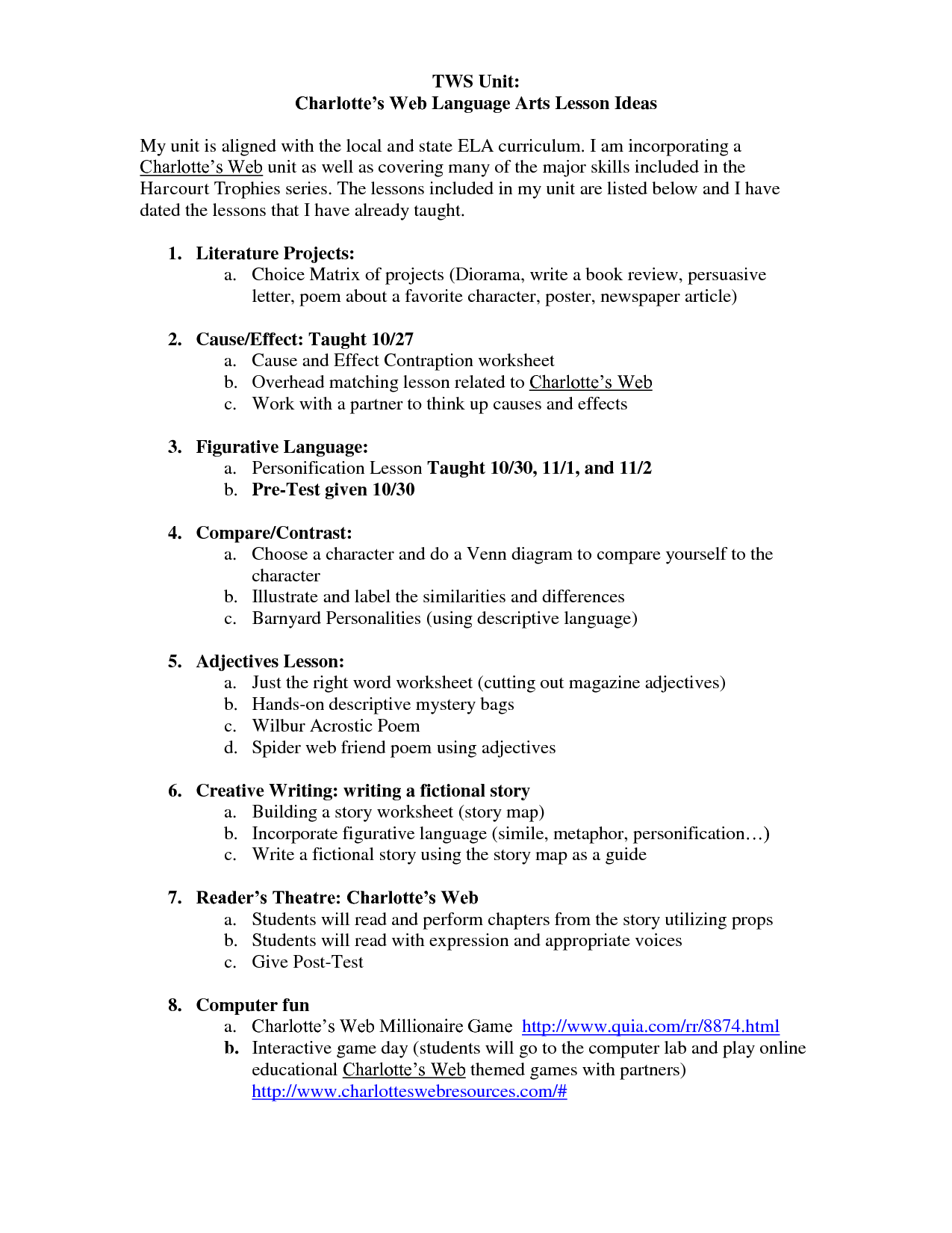 17 Best Images Of Charlotte S Web Writing Worksheets