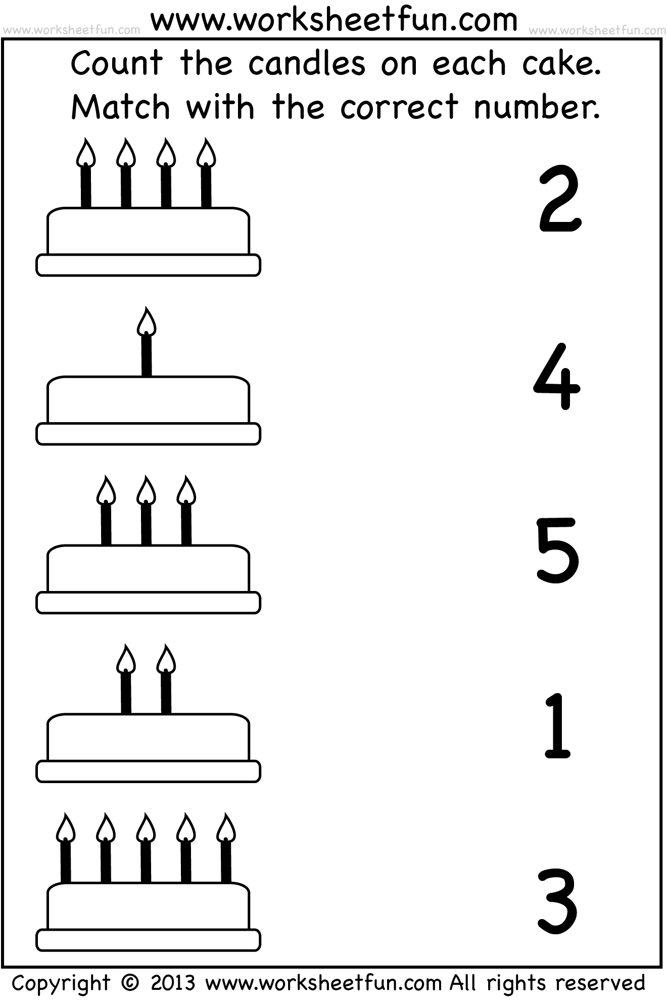 12 Best Images Of Number Matching Worksheets