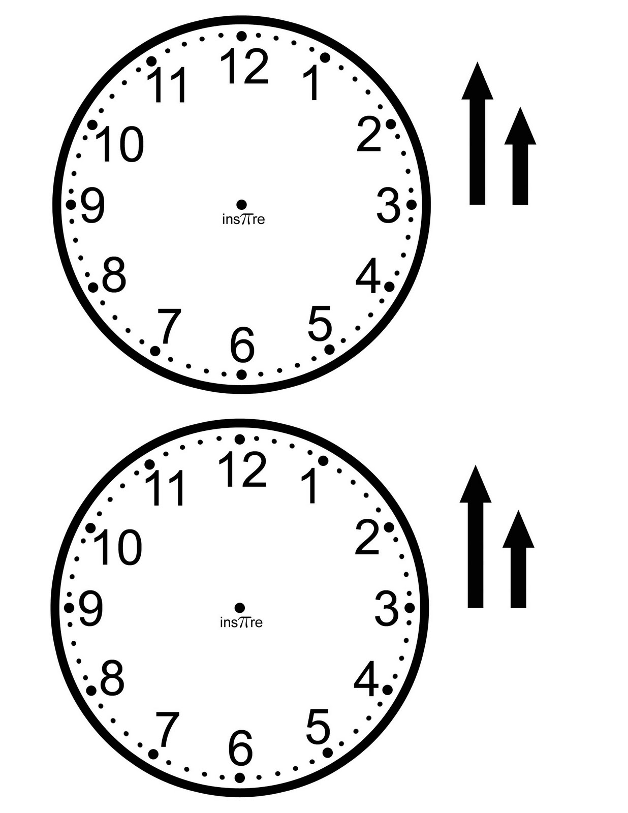 9 Best Images Of Create A Clock Worksheet